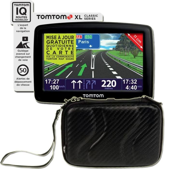 gps tomtom xl classic europe nf housse t 39 nb achat vente gps auto gps tomtom xl classic. Black Bedroom Furniture Sets. Home Design Ideas