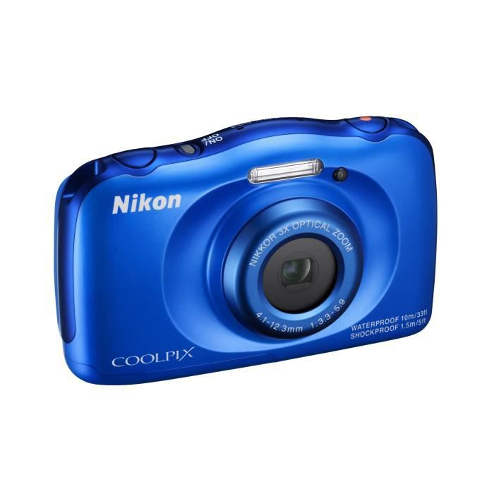 nikon coolpix s33 bleu appareil photo num rique compact. Black Bedroom Furniture Sets. Home Design Ideas