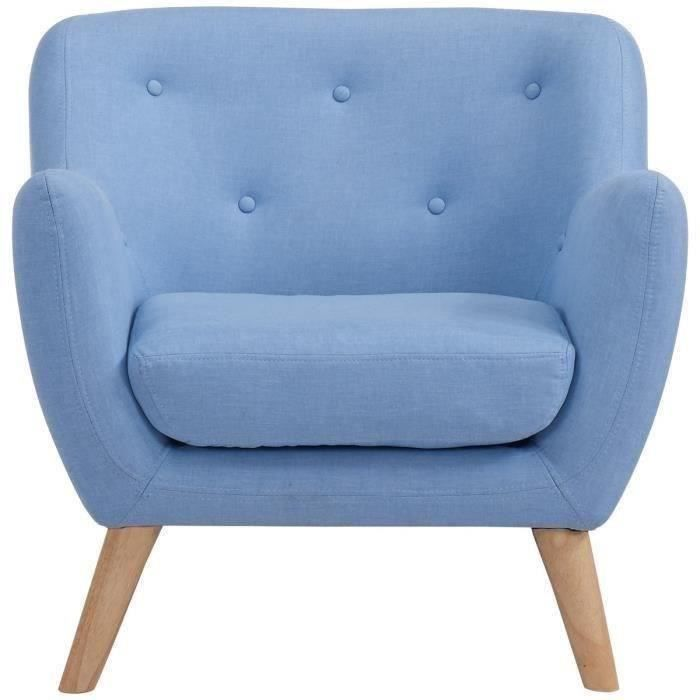 scandi fauteuil scandinave en tissu bleu achat vente. Black Bedroom Furniture Sets. Home Design Ideas