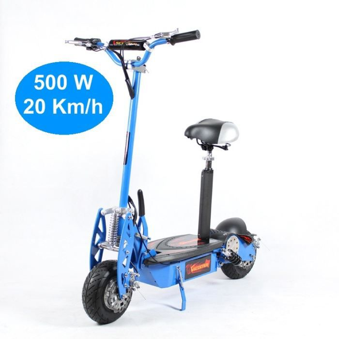 trottinette electrique adulte 500w bleu achat vente. Black Bedroom Furniture Sets. Home Design Ideas