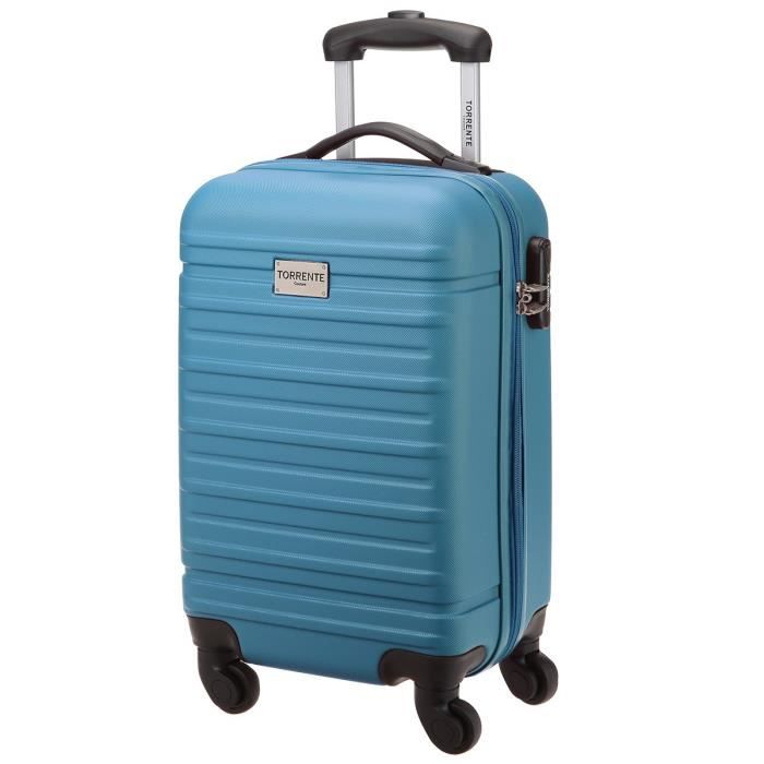torrente valise cabine low cost rigide abs 4 roues 45 cm tethis bleu bleu achat vente valise. Black Bedroom Furniture Sets. Home Design Ideas