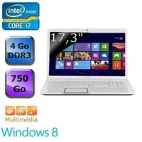 Ordinateur Portable TOSHIBA SATELLITE L87018X BLANC INTEL CORE I7 3630QM 2.4GHZ 4GO 750GO WIN8
