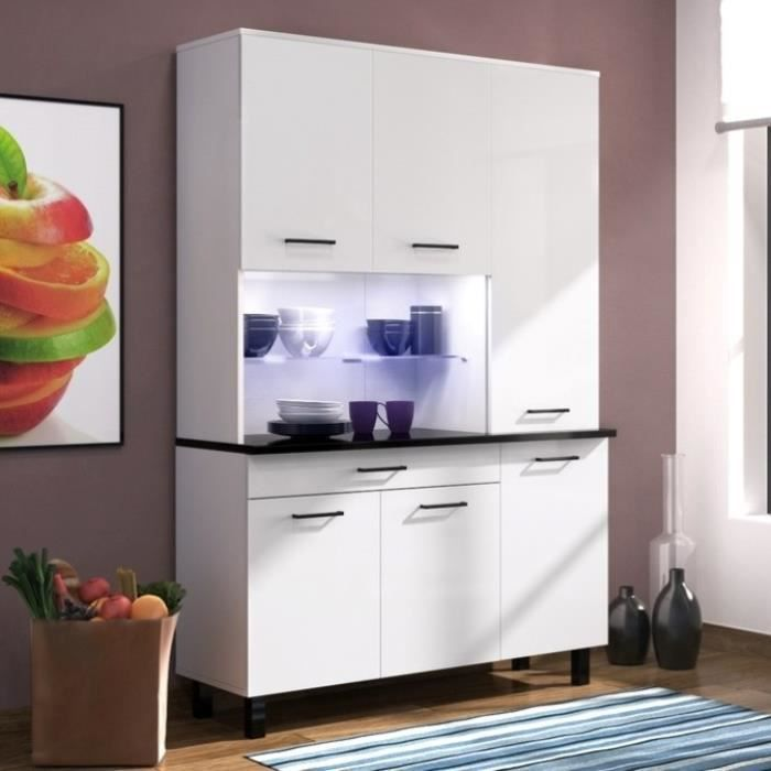 eco buffet de cuisine contemporain l 120 cm blanc. Black Bedroom Furniture Sets. Home Design Ideas