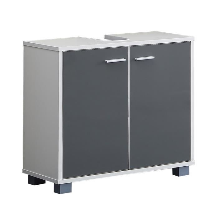 mesa meuble sous vasque 60 cm gris brillant achat. Black Bedroom Furniture Sets. Home Design Ideas