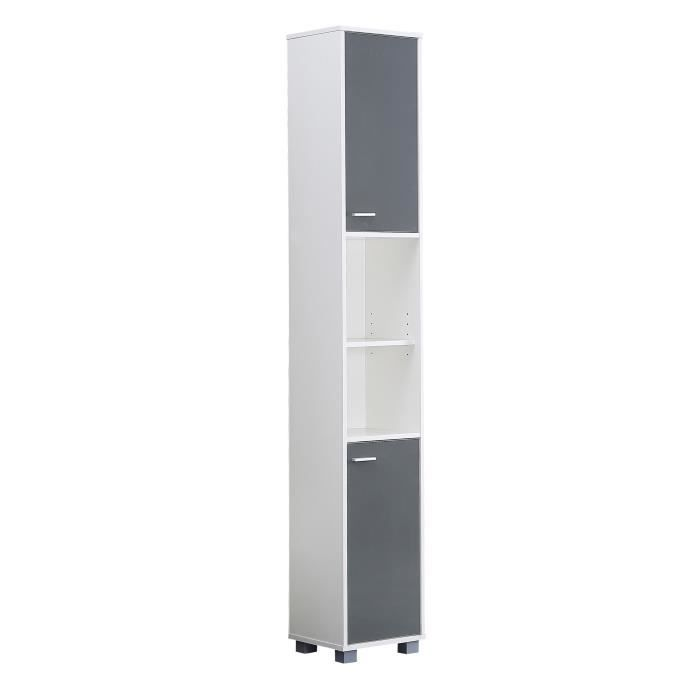 mesa colonne salle de bain 30 cm gris brillant achat vente colonne armoire sdb mesa. Black Bedroom Furniture Sets. Home Design Ideas