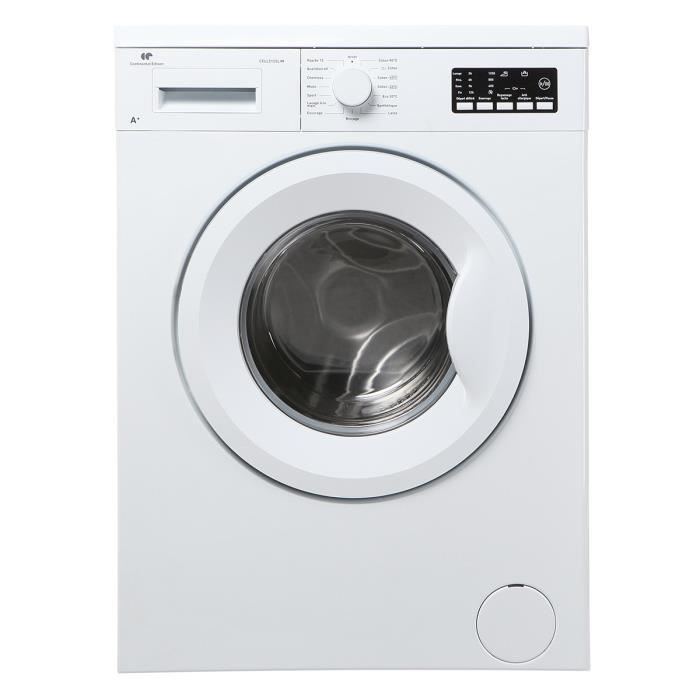 continental edison cell512slim lave linge frontal faible