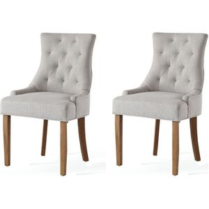 CHAISE Lot de 2 chaises de salon pieds en bois hévea mass
