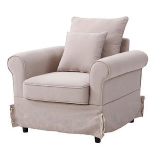 P Fauteuil Lin 75 L Chesterfield Cheverny Cm X Naturel 76 lc1KJTF
