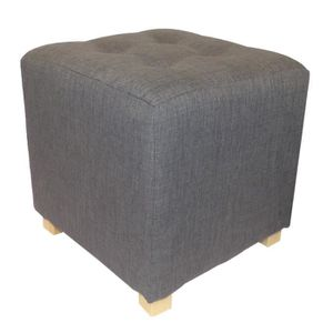 pouf gris achat vente pouf gris pas cher soldes cdiscount. Black Bedroom Furniture Sets. Home Design Ideas
