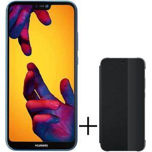 SMARTPHONE HUAWEI P20 Lite Bleu 64 Go + Flip Cover noir