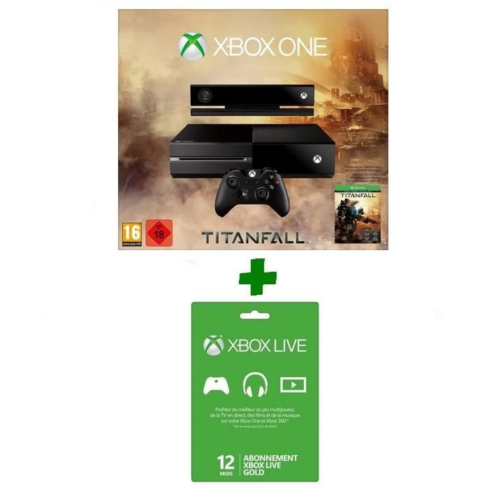 console xbox one titanfall abo xbox live 12 m achat. Black Bedroom Furniture Sets. Home Design Ideas