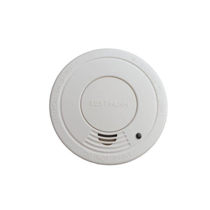 Nouveau 2 x maison utilisation détecteur de fumée alarme facile installer à batterie /& inclus