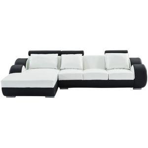 CANAPÉ - SOFA - DIVAN REMY Canapé de relaxation d'angle gauche fixe 6 pl