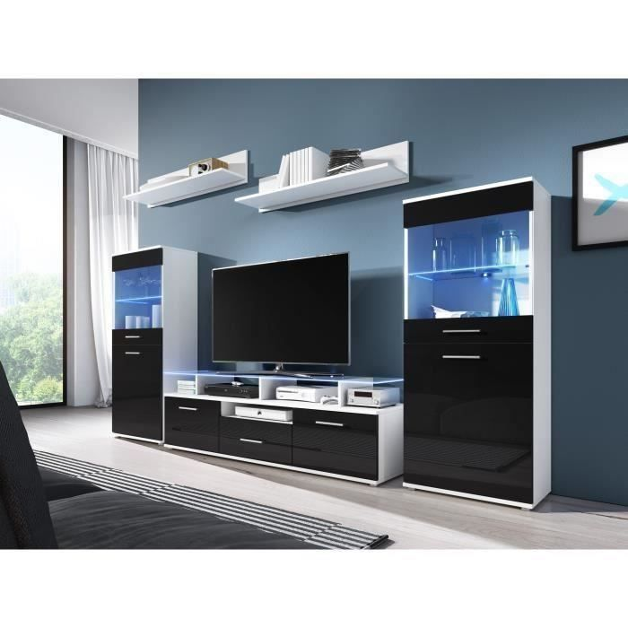 meuble mur tv achat vente pas cher. Black Bedroom Furniture Sets. Home Design Ideas
