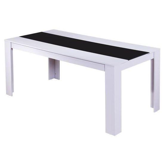 blanc noir de style 8 L DAMIA x 180 cm 6 90 à manger Table contemporain mat personnes à et l 8ZnNwOk0PX