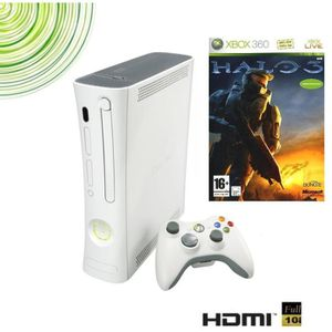 CONSOLE XBOX 360 PACK CONSOLE XBOX 360 ARCADE RECONDITIONNEE + HALO