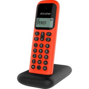 Téléphone fixe ALCATEL Téléphone fixe D285 SOLO Rouge sans fil de