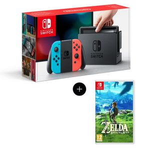 CONSOLE NINTENDO SWITCH Console Nintendo Switch + Paire de Joy-Con rouge e