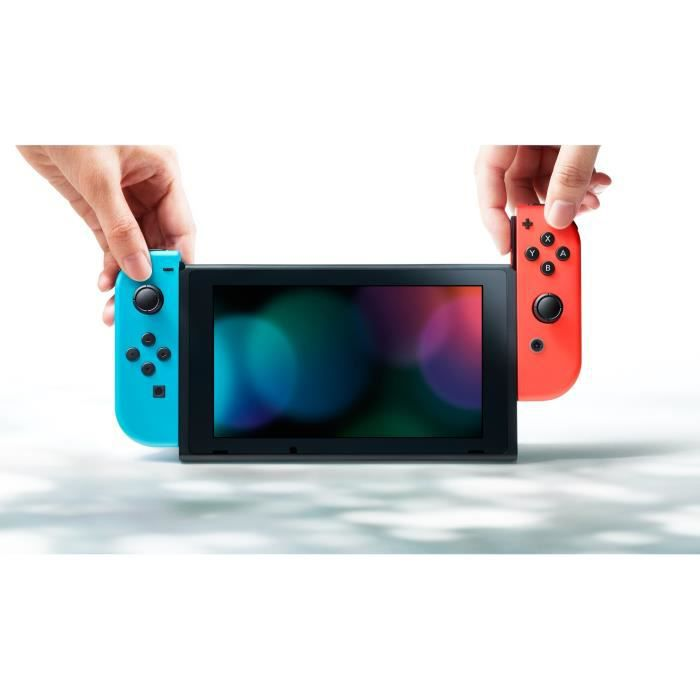 console nintendo switch paire de joy con rouge et bleu. Black Bedroom Furniture Sets. Home Design Ideas
