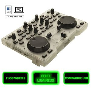 TABLE DE MIXAGE HERCULES DJControl Glow Table de mixage 2 voies US