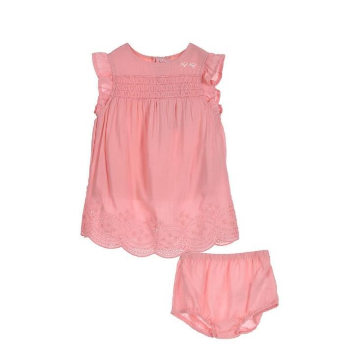 341ee75c0e8ec NAF NAF - Ensemble Robe et Bloomer Rose 100% Coton - Bébé Fille Rose ...