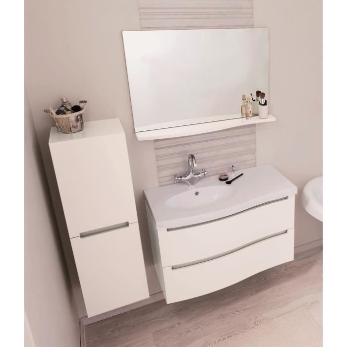 italo salle de bain compl te en bois simple vasque 91 cm blanc achat vente meuble vasque. Black Bedroom Furniture Sets. Home Design Ideas
