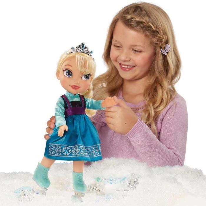 POUPÉE LA REINE DES NEIGES Poupée Elsa Patineuse 38 cm