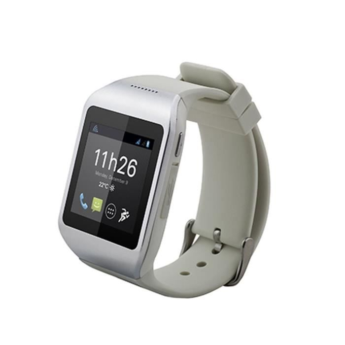 smartwatch polaroid pwatch blanc silver achat montre connect e pas cher avis et meilleur prix. Black Bedroom Furniture Sets. Home Design Ideas