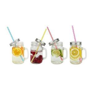 Verre à eau - Soda ARD'TIME Lot de 4 bocaux drinking jars en verre av