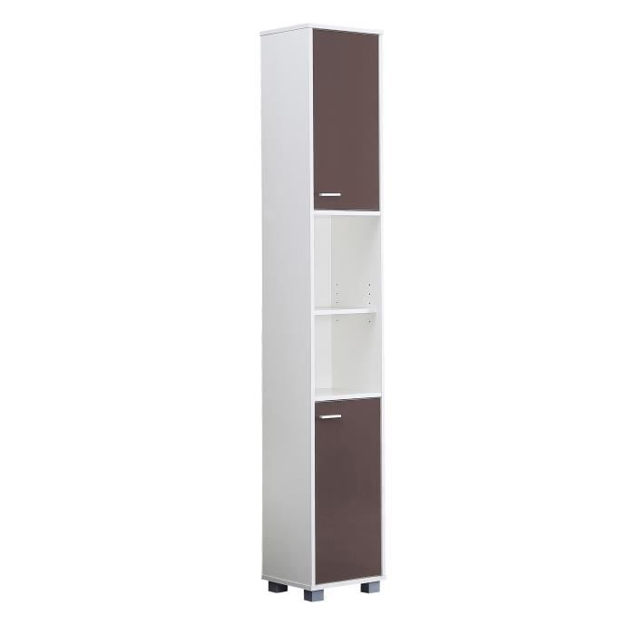 mesa colonne salle de bain 30 cm taupe brillant achat vente colonne armoire sdb mesa. Black Bedroom Furniture Sets. Home Design Ideas