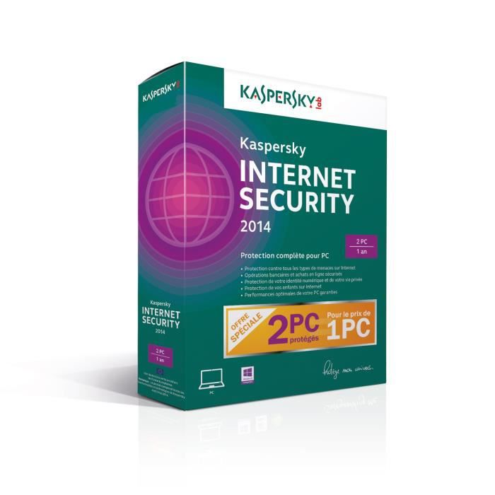 ANTIVIRUS Kaspersky Internet Security 2014 2 Postes / 1 An
