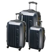 SET DE VALISES TRAVEL WORLD Set de 3 valises trolley GOH