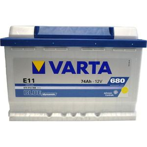 BATTERIE VÉHICULE VARTA Batterie Auto E11 (+ droite) 12V 74AH 680A