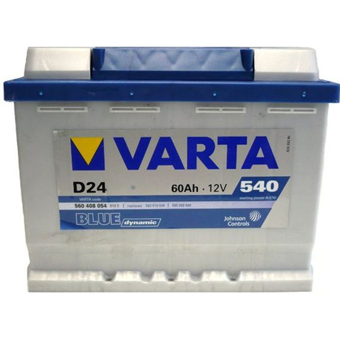 varta batterie auto d24 droite 12v 60ah 540a achat vente batterie v hicule batterie. Black Bedroom Furniture Sets. Home Design Ideas