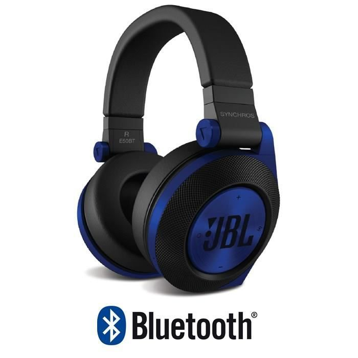 jbl e50bt casque audio synchros bluetooth bleu achat kit pi ton pas cher avis et meilleur. Black Bedroom Furniture Sets. Home Design Ideas
