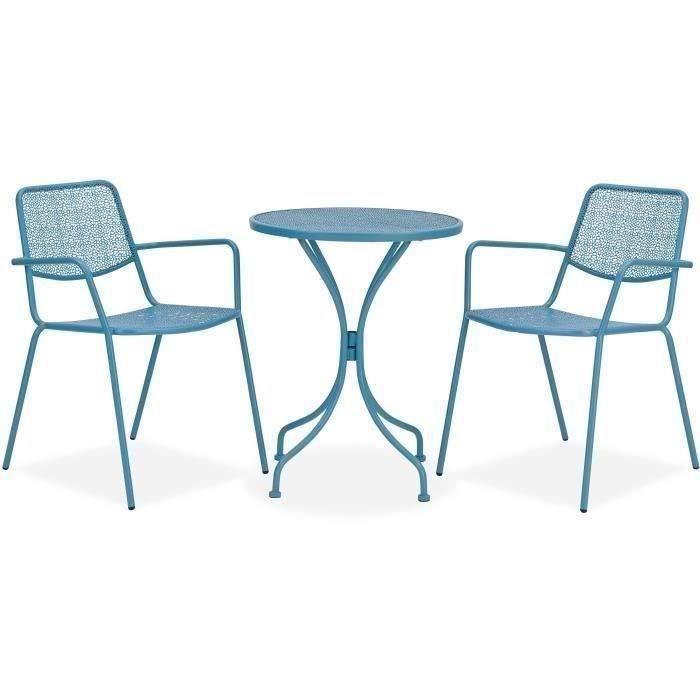Chaise de jardin accoudoirs Set Métal Balcon Chaise Lot Chaise Mobilier de jardin sièges
