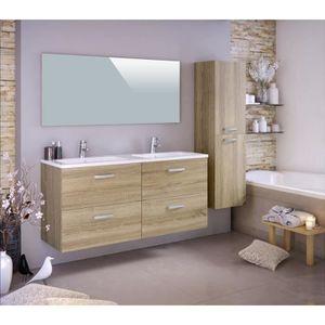 SALLE DE BAIN COMPLETE STELLA Ensemble salle de bain double vasque avec c