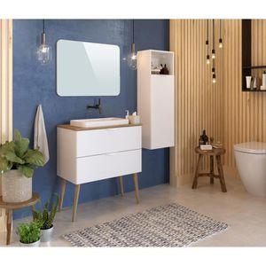 Ensemble meuble salle de bain Scandinave-nature - Achat ...
