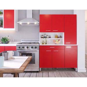 BUFFET DE CUISINE TACOMA Buffet de cuisine L 120 cm - décor rouge