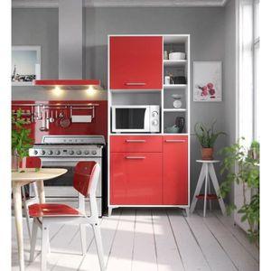 BUFFET DE CUISINE ECO Buffet de cuisine L 80 cm - Rouge brillant