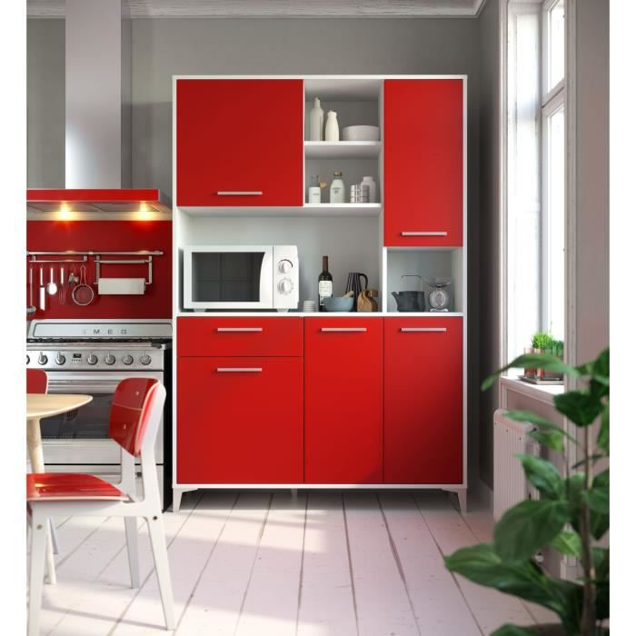 BUFFET DE CUISINE ECO Buffet de cuisine L 120 cm - Rouge mat