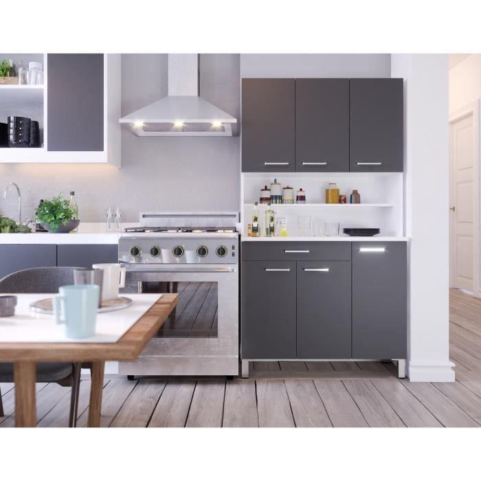 TACOMA Buffet de cuisine L 100 cm - gris mat
