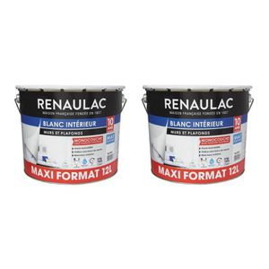 PEINTURE - VERNIS RENAULAC Peinture murale monocouche - Blanc mat ex