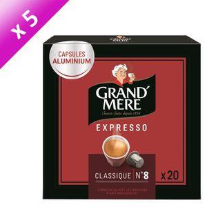 CAFÉ Lot de 5 - Café Capsules Grand Mere Expresso Class