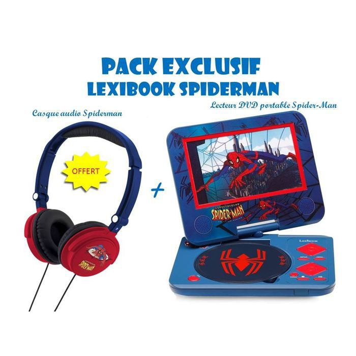 spiderman pack exclu lecteur dvd casque offert achat vente lecteur cd dvd enfant spdm. Black Bedroom Furniture Sets. Home Design Ideas