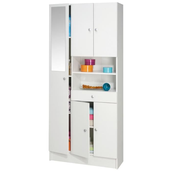 imbattable armoire de salle de bain 82 cm blanc achat. Black Bedroom Furniture Sets. Home Design Ideas
