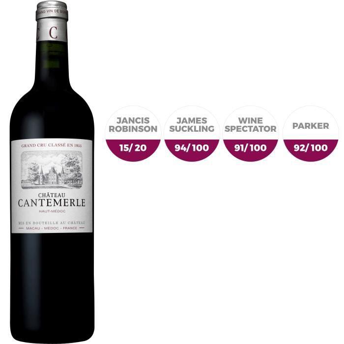 VIN ROUGE Cantemerle 2016 Haut-Médoc Grand Cru Classé Vin Ro