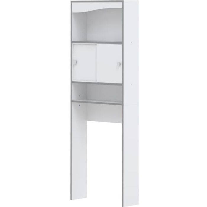 vessa meuble wc ou machine laver l 64 cm blanc achat vente colonne armoire wc meuble. Black Bedroom Furniture Sets. Home Design Ideas