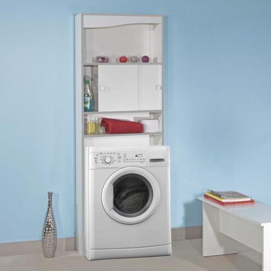 Vessa Meuble Wc Ou Machine A Laver L 64 Cm Blanc Achat Vente Colonne Armoire Wc Vessa Meuble Wc Ou Machine A L Cdiscount