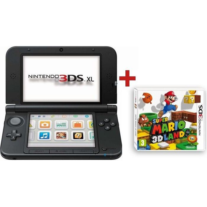 nintendo 3ds xl rouge super mario 3d land achat vente console 3ds 3ds xl super mario 3d. Black Bedroom Furniture Sets. Home Design Ideas